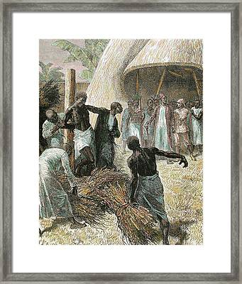 Expedition Of Sir Henry Morton Stanley Framed Print by Prisma Archivo