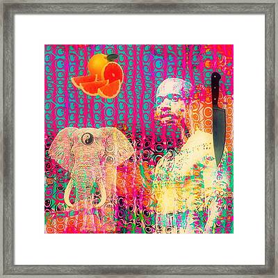 Experimental Digital Collage Framed Print by John  De Sousa
