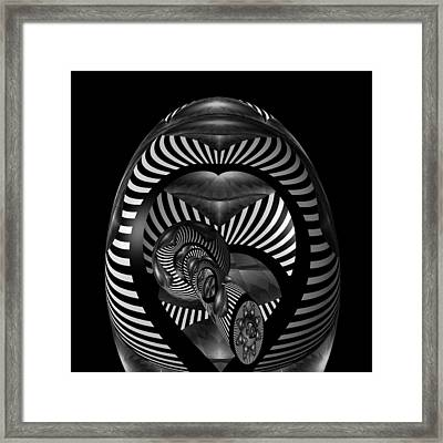Exploration Into The Unknown Bw Framed Print by Barbara St Jean