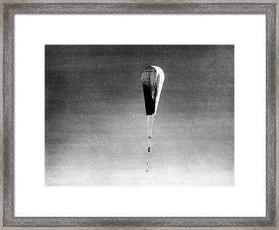 Explorer II High-altitude Balloon Framed Print by American Philosophical Society