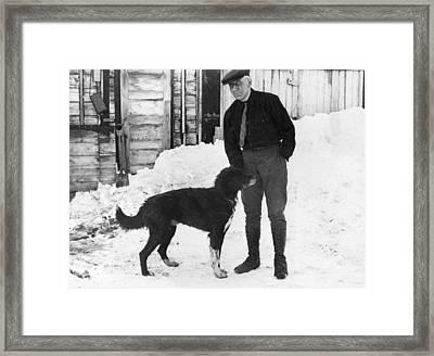 Explorer Roald Amundsen Framed Print by Underwood Archives