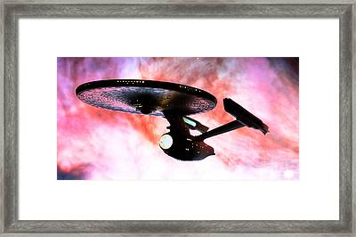 Exploring The Galactic Barrier Framed Print by Jason Politte