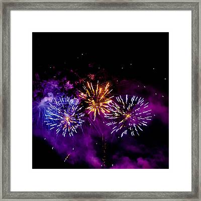 Explosions On The Fourth Framed Print by David Patterson