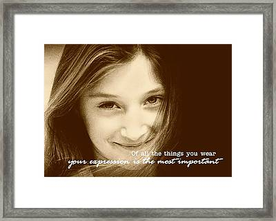 Express Yourself Framed Print by JAMART Photography