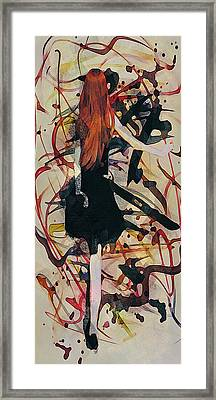 Expression Abstract Framed Print by Galen Valle