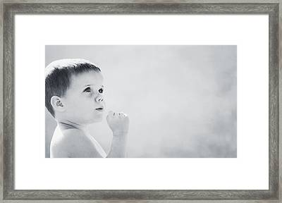 Expression Of A Child Framed Print by Don Hammond
