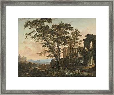 Extensive Rhenish Landscape Framed Print by Celestial Images