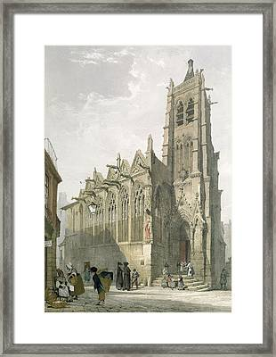 Exterior Of The Church Of St. Severin, Paris Framed Print by Thomas Shotter Boys