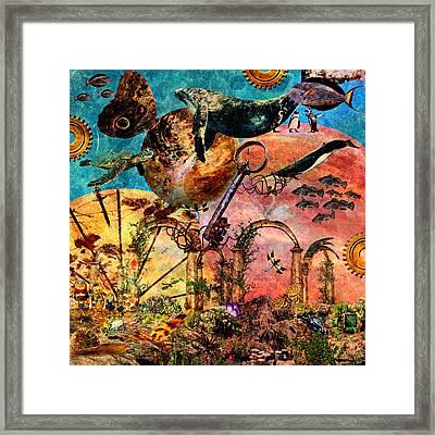 Extinction Level Event Framed Print by Ally  White