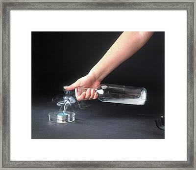 Extinguishing Candle With Carbon Dioxide Framed Print by Dorling Kindersley/uig