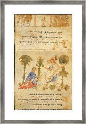 Exultet Roll Framed Print by British Library