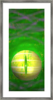 Eye Of A Dragon Framed Print by Steamy Raimon