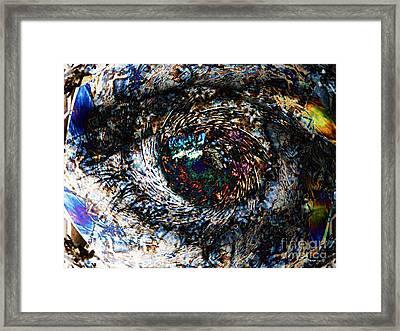 Eye Of A Hurricane Called You Framed Print by Elizabeth McTaggart