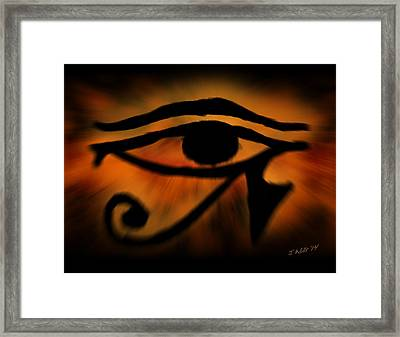Eye Of Horus Eye Of Ra Framed Print by John Wills