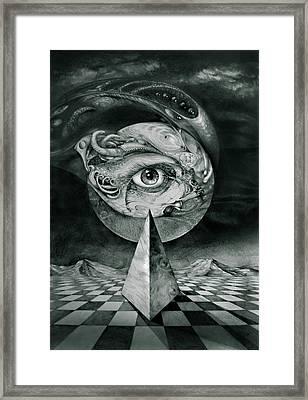 Eye Of The Dark Star Framed Print by Otto Rapp