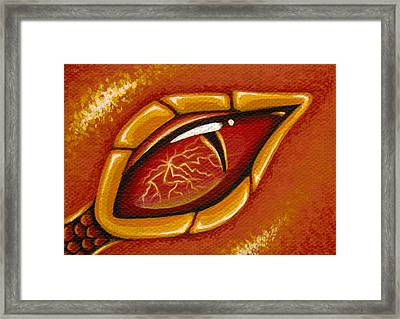 Eye Of The Fiery Lightning Dragon Framed Print by Elaina  Wagner