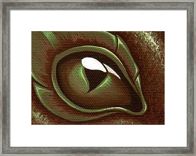 Eye Of The Forest Dragon Hatchling Framed Print by Elaina  Wagner