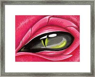 Eye Of The Rubellite Dragon Framed Print by Elaina  Wagner