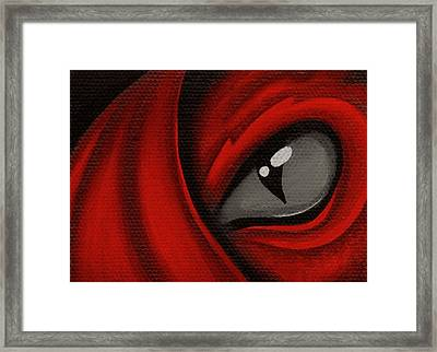 Eye Of The Scarlett Hatching Framed Print by Elaina  Wagner