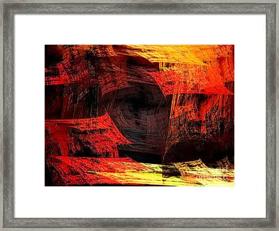 Eye Of The Storm 2 - Blown Away - Abstract - Fractal Art Framed Print by Andee Design