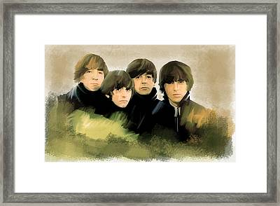 Eye Of The Storm The Beatles Framed Print by Iconic Images Art Gallery David Pucciarelli
