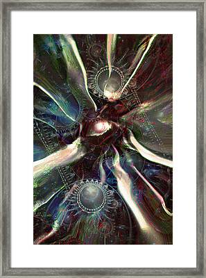 Eye Of The Universe Framed Print by Linda Sannuti