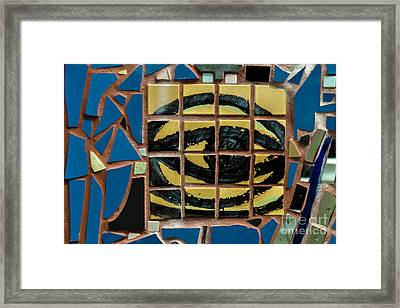 Eye Tile Art Graffiti Framed Print by Gary Keesler