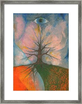 Eye Framed Print by Wojtek Kowalski