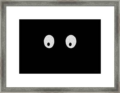 Eyes - My Eyes Are Up Here Framed Print by Mike Savad