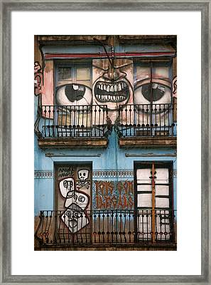 Eyes Of Barcelona Framed Print by Joanna Madloch