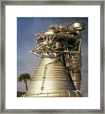 F-1 Rocket Engine Framed Print by Richard Rizzo
