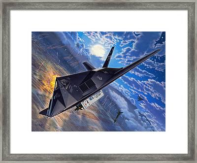 F-117 Nighthawk - Team Stealth Framed Print by Stu Shepherd