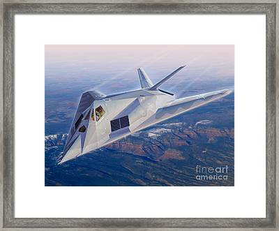 F-117 The Dragon Framed Print by Stu Shepherd