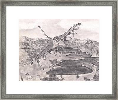 F-16 Over Alaska Framed Print by Jon Castillo
