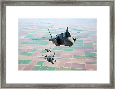 F-35b Fighter Jets Framed Print by Us Defense