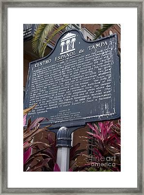 F-383 Centro Espanol De Tampa Framed Print by Jason O Watson
