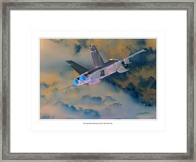 Fa-18d Hornet Framed Print by Larry McManus