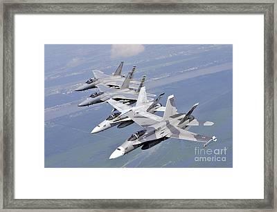 Fa18 Hornets Framed Print by Paul Fearn