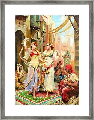 Fabio Fabbi Harem Dancing Framed Print by Munir Alawi