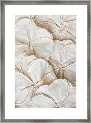 Fabric Pattern Framed Print by Tom Gowanlock