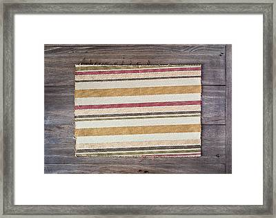 Fabric Sample Framed Print by Tom Gowanlock