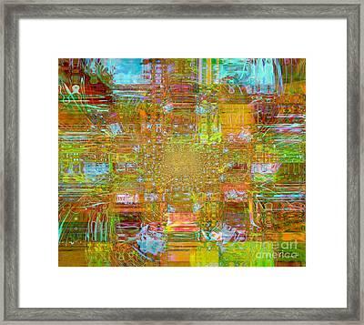 Fabric Three Framed Print by Fania Simon