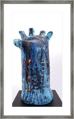 Fabulas Blue Hand  Framed Print by Mark M  Mellon