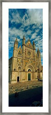 Facade Of A Cathedral, Duomo Di Framed Print by Panoramic Images