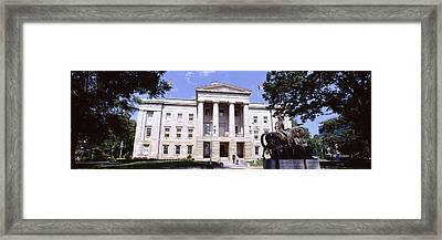 Facade Of A Government Building, City Framed Print by Panoramic Images