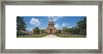 Facade Of A Government Building, Texas Framed Print by Panoramic Images