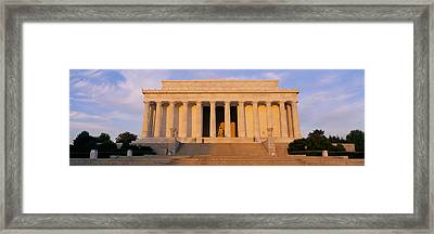 Facade Of A Memorial Building, Lincoln Framed Print by Panoramic Images
