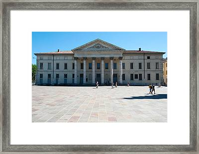 Facade Of A Theatre, Teatro Sociale Framed Print by Panoramic Images