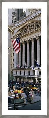 Facade Of New York Stock Exchange Framed Print by Panoramic Images