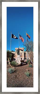 Facade Of The Arizona State Capitol Framed Print by Panoramic Images